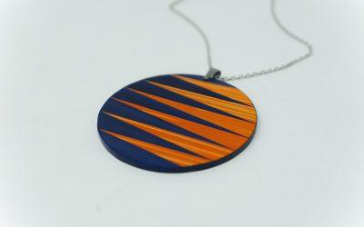 Kette Zigzag rund (blau-orange)