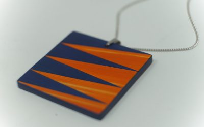 Kette Zigzag (blau-orange)