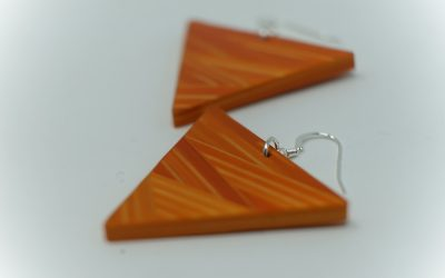 Ohrringe Zigzag (orange)