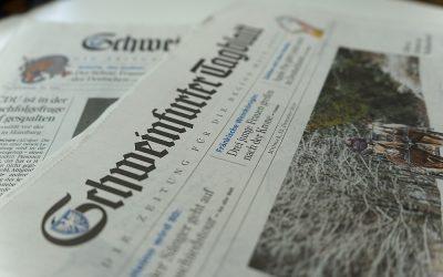"""""""Fast wie Rumpelstilzchen: Aus Stroh macht sie Kostbares"""", Artikel von Irene Spiegel, Mainpost"""