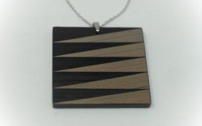 Kette Zigzag (schwarz – grau)