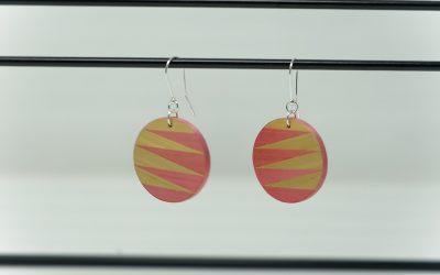 Ohrringe Zigzag (rosa – creme)