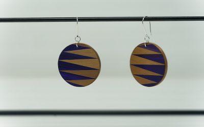 Ohrringe Zigzag (violett – bronze)