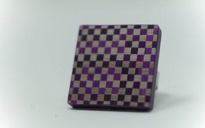Ring Damier (violett-grau)
