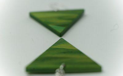 Ohrringe Zigzag (apfelgrün)