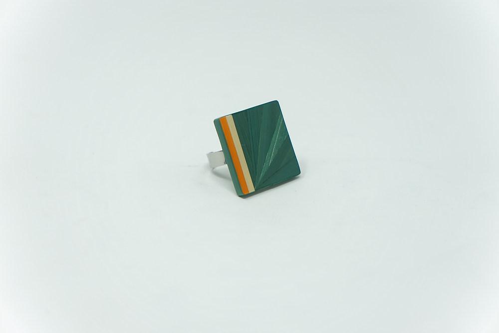 Ring Pop (grün-orange-natur)