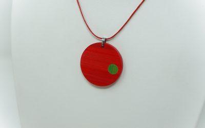 Kette Clin d'oeil (rot grün)