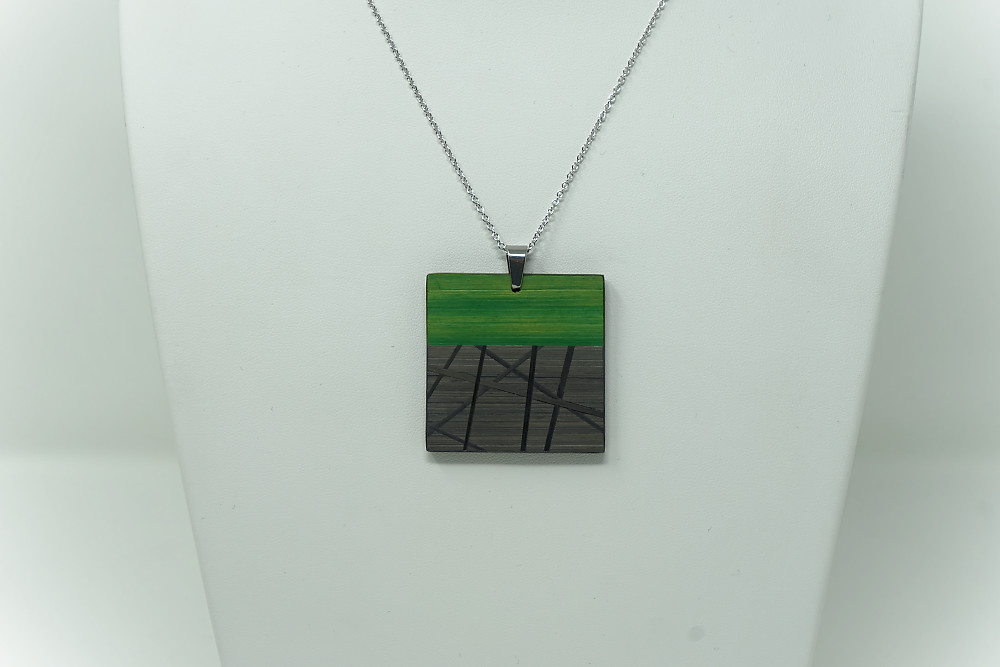 Kette Funambule (anthrazit – grün)