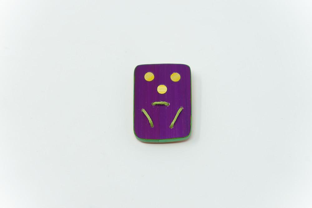 Brosche Trois ronds, trois traits – Mathurin (violette)